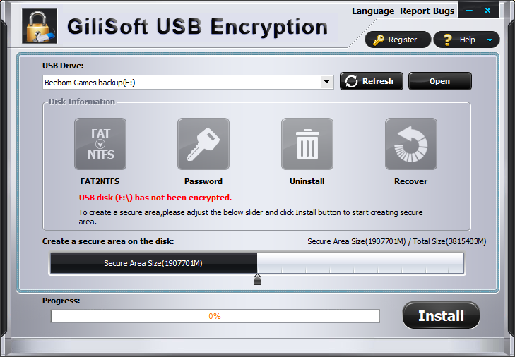Encrypt USB Drives gilisoft