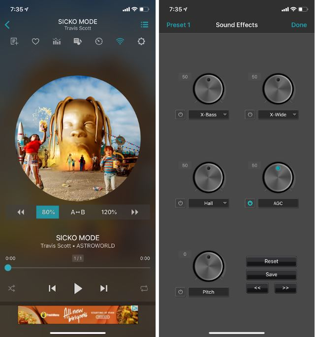 iPhone Music Player Apps jetaudio