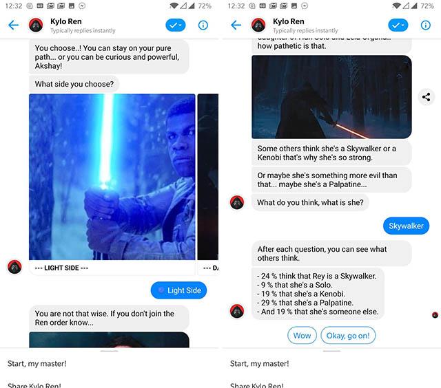 kylo ren messenger bot screenshot