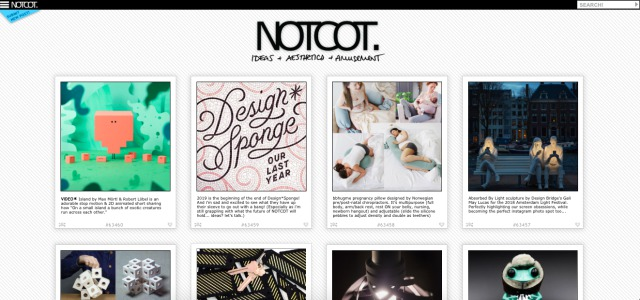 notcot - pinterest like platform fir creatives