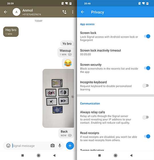 Open Source Apps For Android signal messenger