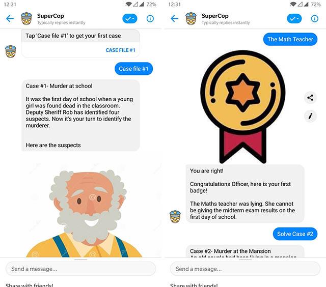 supercop messenger bot screenshot