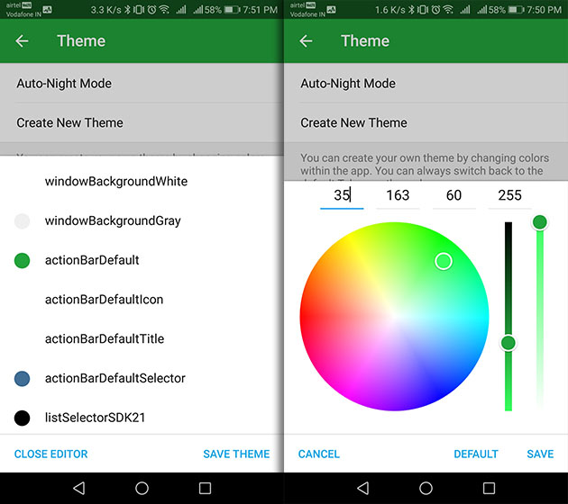 telegram color settings themes