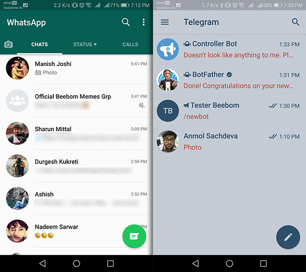 Telegram Vs WhatsApp: Which Messenger To Use in 2019? | Beebom