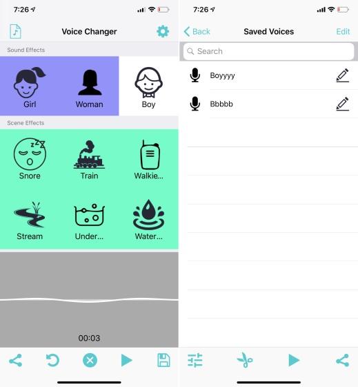 voice changer caller iOS