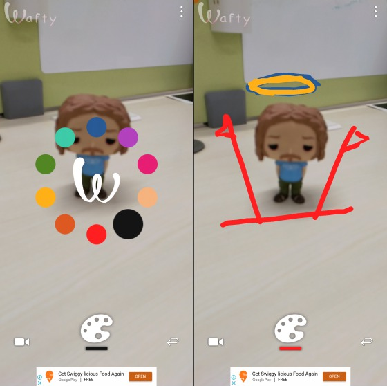 wafty AR draw Android app