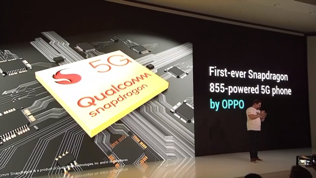 Oppo Shows Off its First Snapdragon 855-Powered 5G Smartphone
