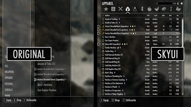 Sky UI for Skyrim