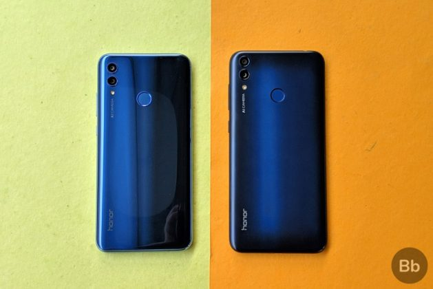 honor 10 lite vs honor 8C rear
