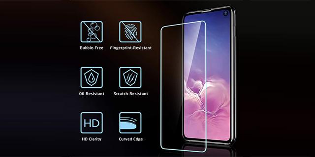 esr tempered glass for galaxy s10e