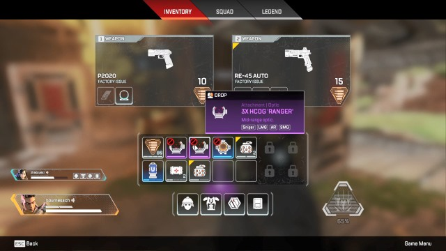 inventory - apex legends