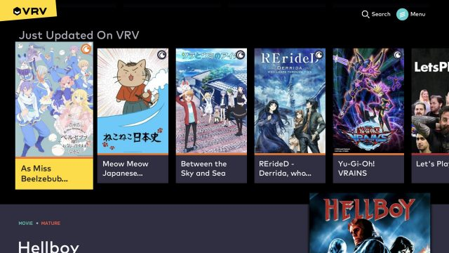 vrv streaming service ps4