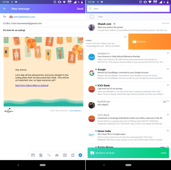 yahoo mail android app
