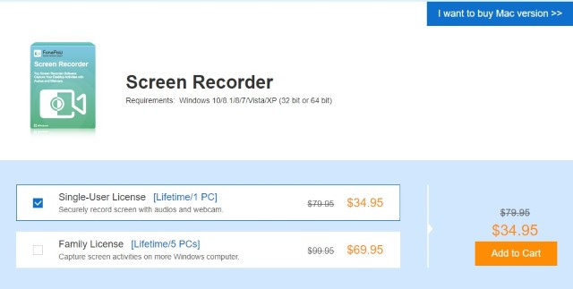 FonePaw Screen Recorder - Pricing and Availability