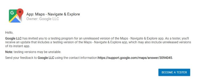 Joining Google Maps Beta