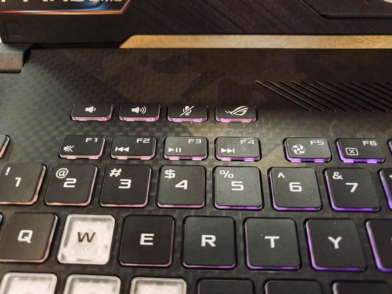 asus rog strix scar ii special keys