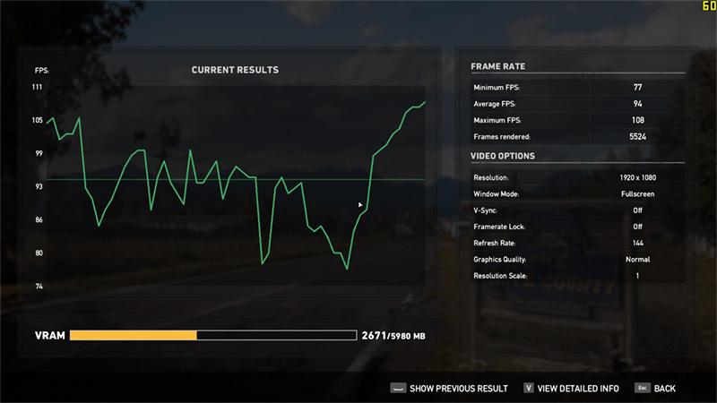 farcry 5 benchmark normal