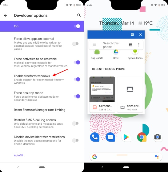 freeform android q