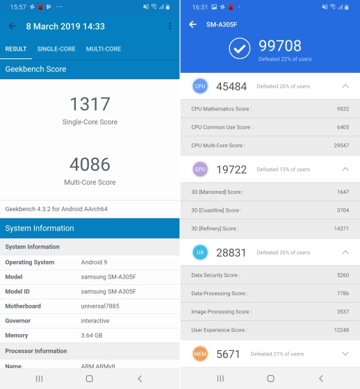 galaxy a30 benchmarks