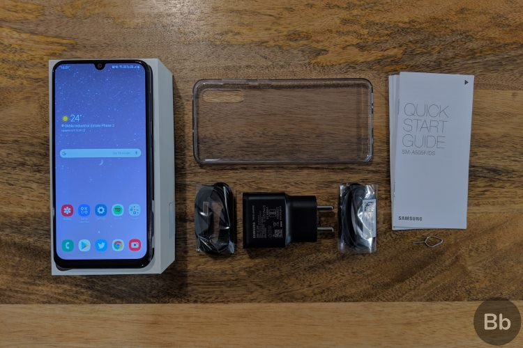 galaxy a50 unboxing