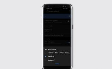 schedule night mode one ui