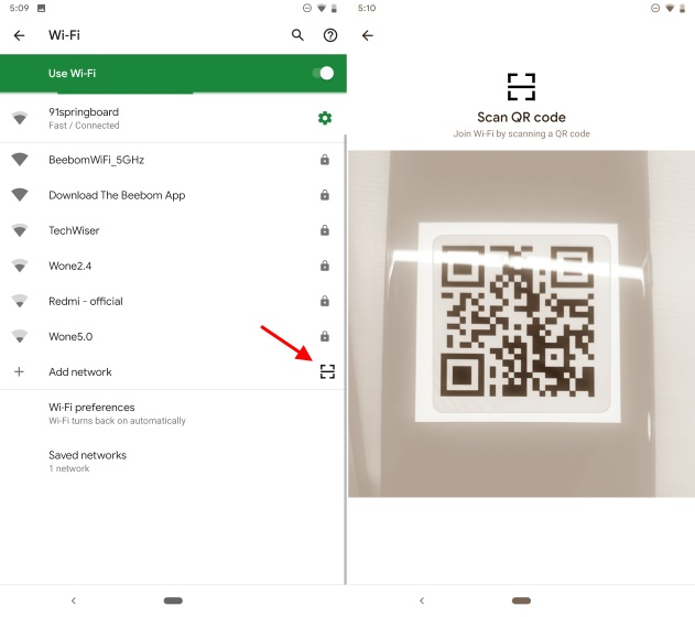 wi-fi easy connect - android Q