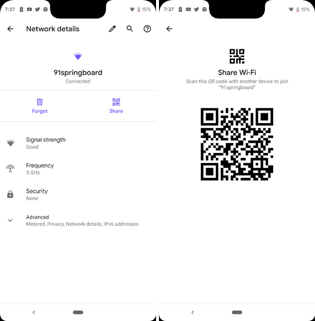 wifi sharing android q