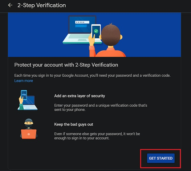 4. Secure Your Google Account on Chrome