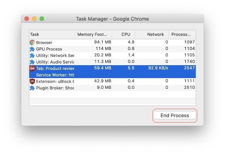 7. Use Chrome Task Manager 2