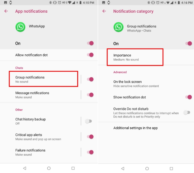 Customize WhatsApp Notifications with Notification Channels on Android 3
