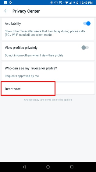 Delete your Truecaller Account 2