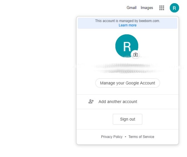 Google Manage Your Account