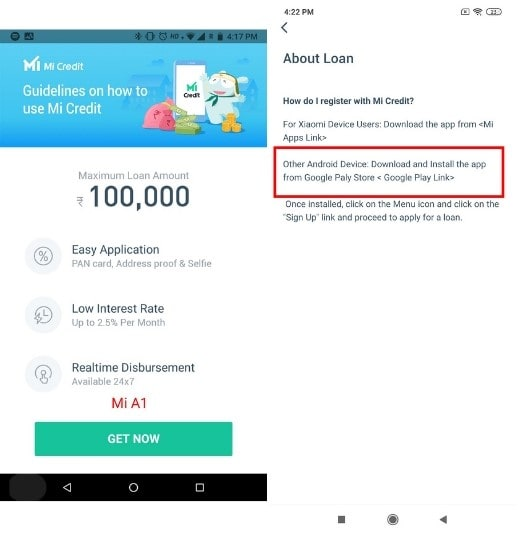 Mi Credit Availability