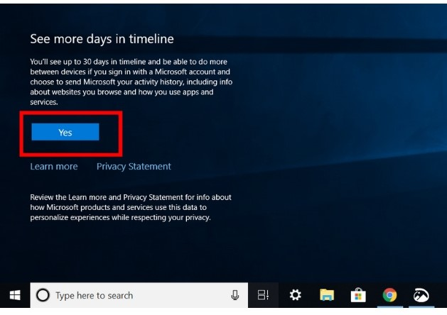 Set up the Timeline Feature on Windows 1