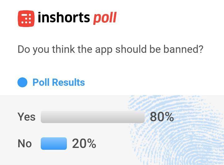 inshorts tiktok ban poll