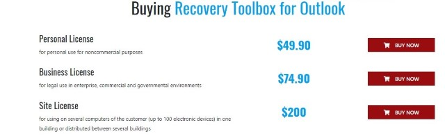 buy Recovery Toolbox for Outlook