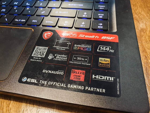 msi gs65 stealth sticker