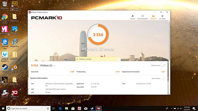 pcmark10 benchmark fx505dy