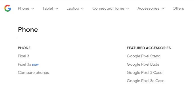 pixel 3a google store