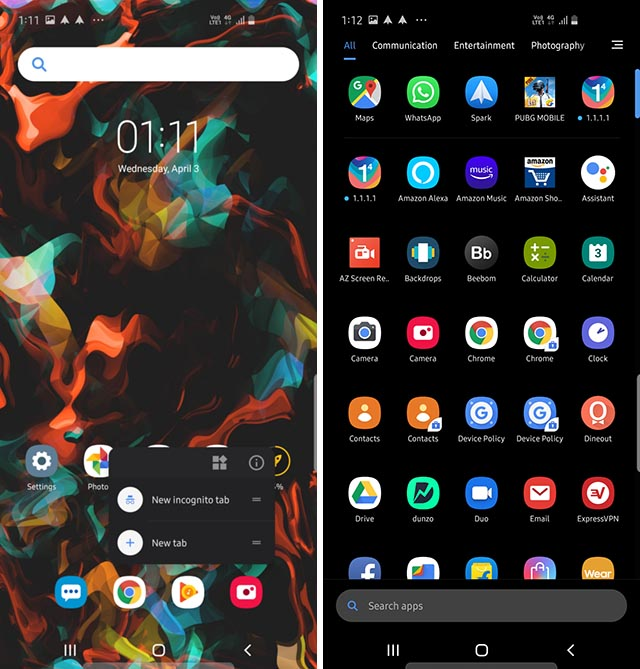 poco launcher dark mode enabled