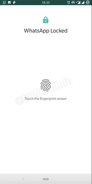 whatsapp fingerprint lock android
