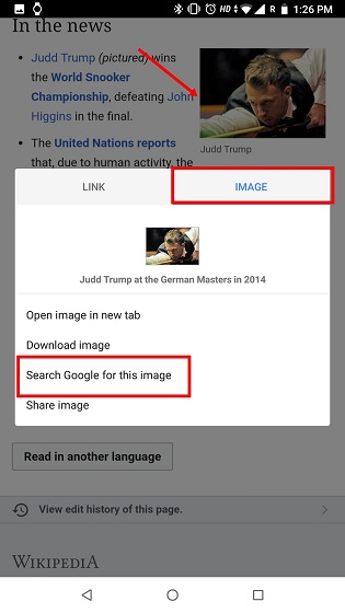 2. Reverse Image Search on Android Using Kiwi Browser 1