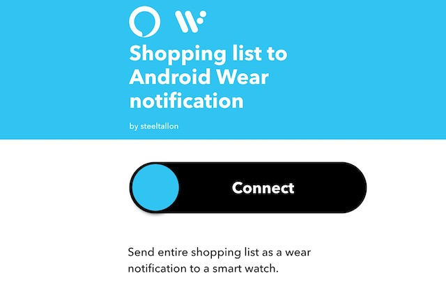 4. Send Alexa Shopping List to Android Wear