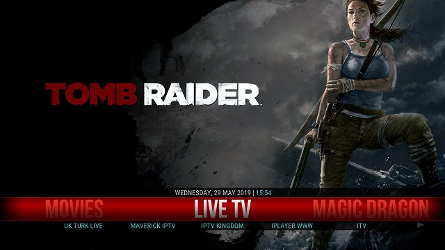 8. Tomb Raider Kodi Build