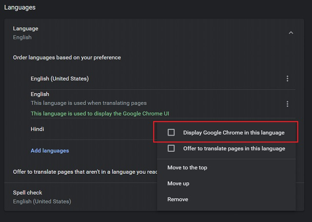 Change Language in Google Chrome (Windows, Linux and Chrome OS) 5