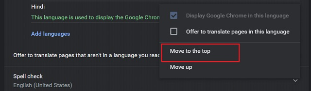 Change Language in Google Chrome (Windows, Linux and Chrome OS) 7