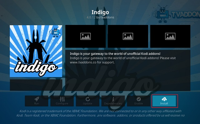Clear Cache on Kodi Using Indigo Add-on 7