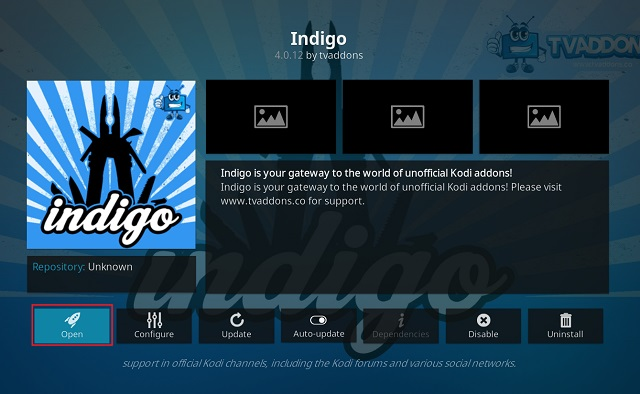 Clear Cache on Kodi Using Indigo Add-on 8