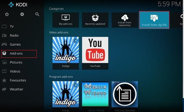 Clear Cache on Kodi Using Merlin Wizard Add-on 1