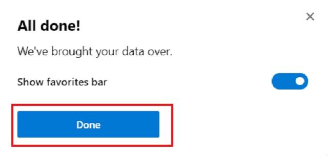 Import Bookmarks in Chromium Build of Microsoft Edge 3